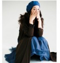 vivi杂志热推款纯羊毛画家帽