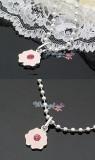 粉色花朵项链