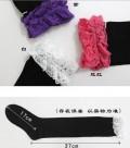 蔡依琳同款质地蕾丝花边长筒袜