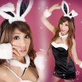 XS-S SIZE神秘黑派对兔女郎性感五件套