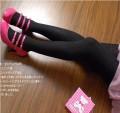 韩版超级修腿显瘦花纹棉连裤袜