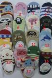 日系超卡哇伊棉质蕾丝花边儿童卡通防滑船袜B款