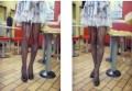 欧美流行风显瘦线条性感连裤袜(精装)