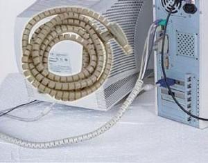 带夹电脑电线3米包线管