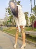 韩版水晶绒动物纹七分打底裤