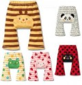新款日式可爱动物宝宝纯棉九分裤
