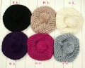 韩版双层毛线球帽