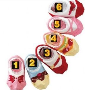 日系超卡哇伊棉质蕾丝花边儿童卡通防滑船袜C款