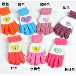 蝴蝶款毛线手套