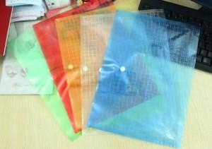 A4纸格子文件袋/资料袋/钮扣袋