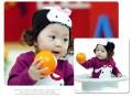 韩版卡哇伊含假发兔子宝宝帽