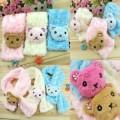 韩版卡通款式毛绒儿童围巾
