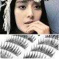 台湾超自然纯手工透明梗假睫毛10对(A02)