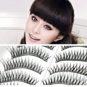 台湾超自然纯手工透明梗假睫毛10对(A04)