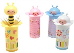 创意蜜蜂自动牙签瓶