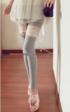 韩版瘦腿软纱绣花蕾丝打底裤