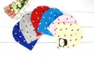韩版棉针宝宝小熊帽