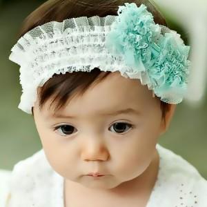 韩版宝宝蕾丝蝴蝶结发带