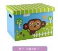 卡通可爱动物收纳硬纸箱