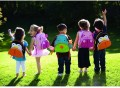 可爱小孩动物帆布背包