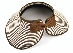 成人款条纹可折叠滩帽遮阳帽