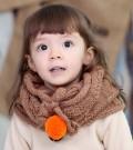 儿童毛球保暖针织围脖